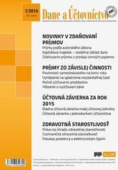 Dane a účtovníctvo 1-2016