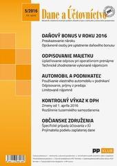 Dane a účtovníctvo 5 - 2016