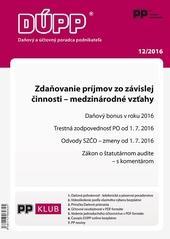 Daňový a účtovný poradca podnikateľa 12-2016