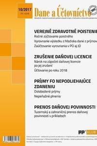 Dane a účtovníctvo 10-2017