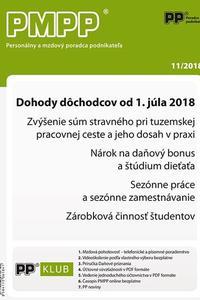 Dohody dôchodcov od 1. júla 2018
