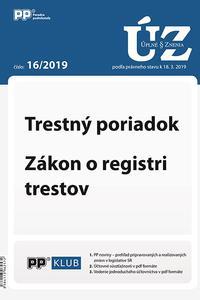 UZZ 16/2019 Trestný poriadok, Zákon o registri trestov