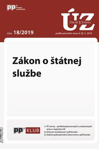 UZZ 18/2019 Zákon o štátnej službe