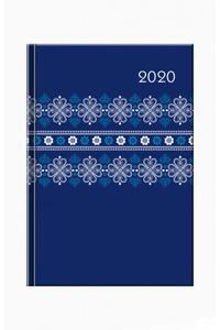 Print folk modrý 2020