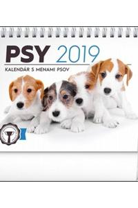 Stolový kalendár Psy s menami psov 2019