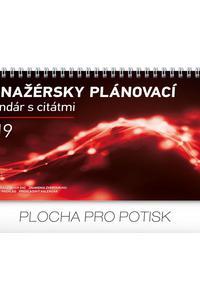 Manažérsky plánovací kalendár s citátmi stolový  2019