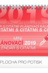 Mini plánovací kalendár s citátmi 2019