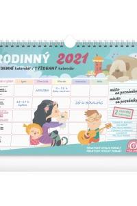 Týždenný rodinný plánovací kalendár 2021