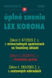Aktualizácia 2020 I/3 Lex korona