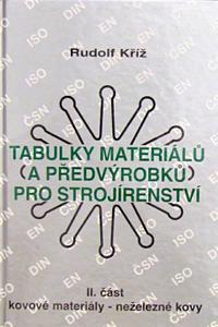 Tabulky materiálů a předvýrobků pro strojírenství II. část