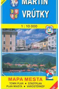 Martin, Vrútky 1:10 000 - Mapa mesta / Town plan / Stadtplan / Plan miasta / Várostérkép