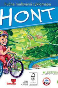 Maľovaná cyklomapa Hont deťom