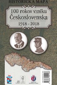 Historická mapa - 100 rokov vzniku Československa 1918-2018