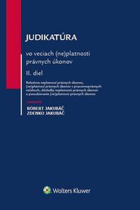 Judikatúra vo veciach (ne)platnosti právnych úkonov