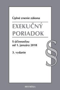 Exekučný poriadok. Úzz, s účinnosťou od 1. januára 2018