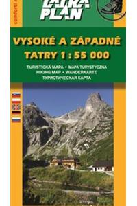 Vysoké a Západné Tatry 1:55 000