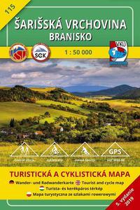 Šarišská vrchovina Branisko 1:50 000 (5.vydanie)
