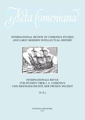 Acta Comeniana 26 - International Review of Comenius Studies and Early Modern Intellectual History