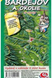 Bardejov a okolie - Ručne maľovaná mapa regiónu
