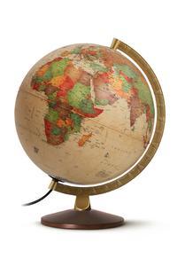 Svietiaci glóbus o priemere 25 cm - drevený podstavec