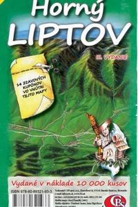 Horný Liptov - Ručne maľovaná mapa