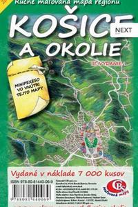 Košice a okolie - Ručne maľovaná mapa regiónu