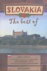 Mapa the best of Slovakia - Západ