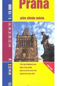 Praha - plán středu města 1:15 000