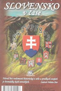 Ručne maľovaná mapa - Slovensko v čase
